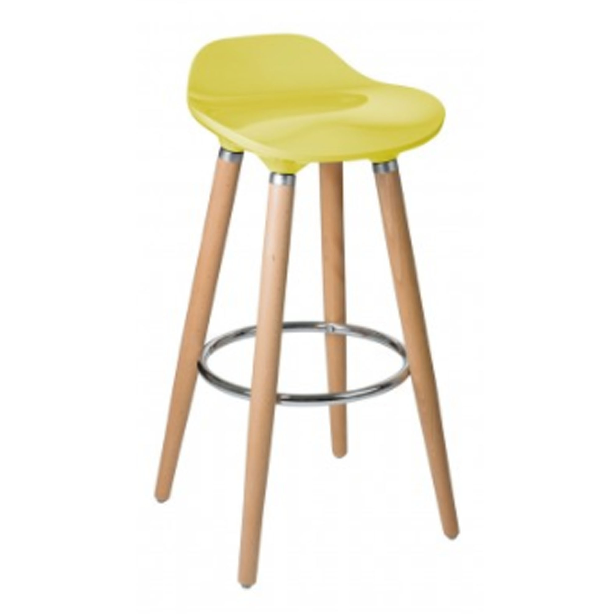 Yellow breakfast bar stool