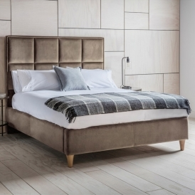 York Brussels Taupe Kingsize Fabric Bed